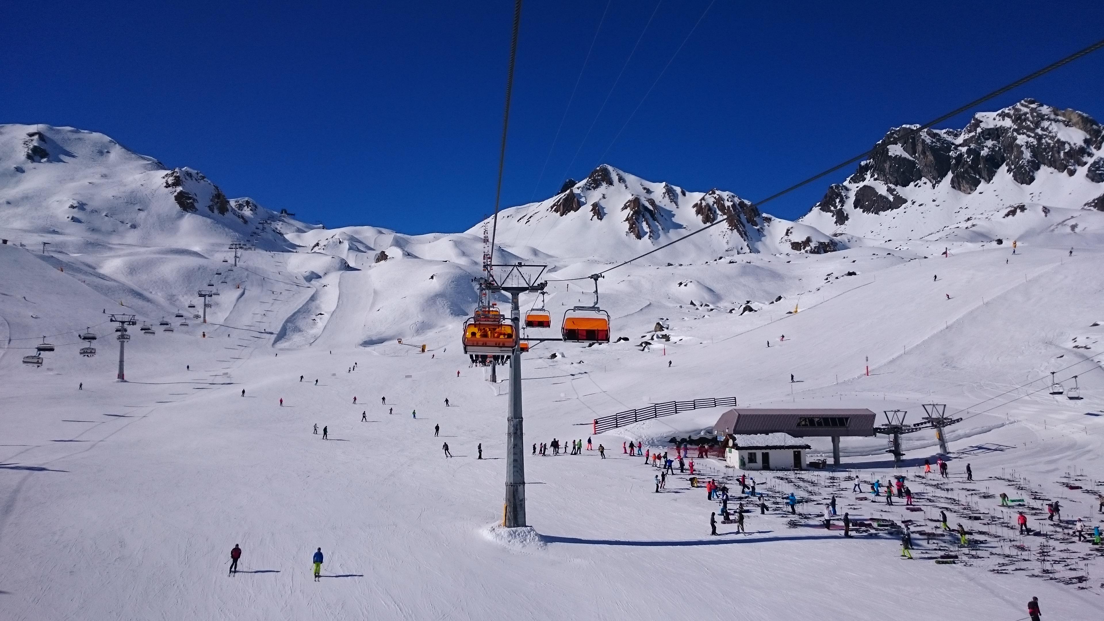 Skigebiet Samnaun Silvretta Bergbahnen