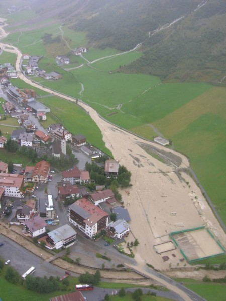 Hochwasser 2005 in Galtür