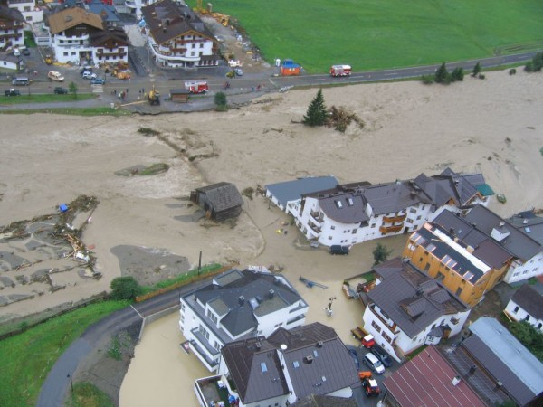 Hochwasser 2005 in Ischgl