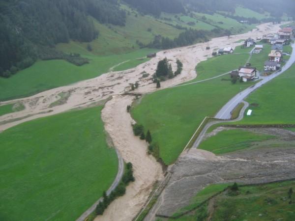 Hochwasser Mathon 2005