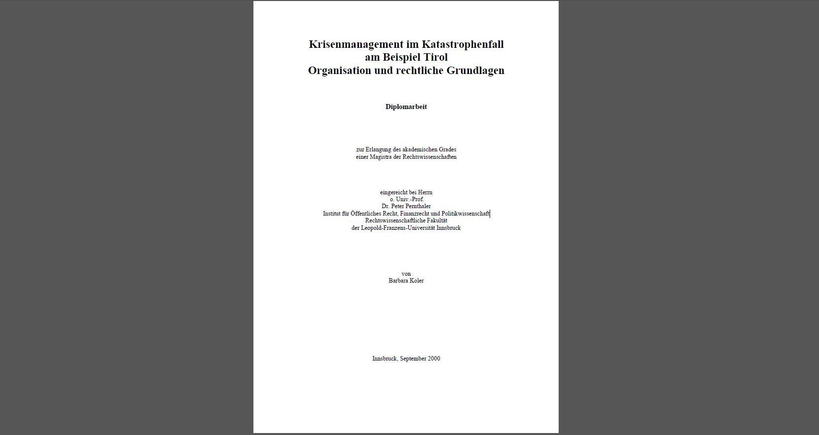 Diplomarbeit Barbara Koler
