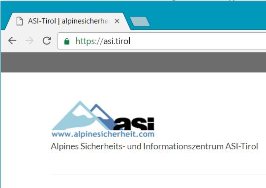 asi.tirol nutzt TLS Verschlüsselung