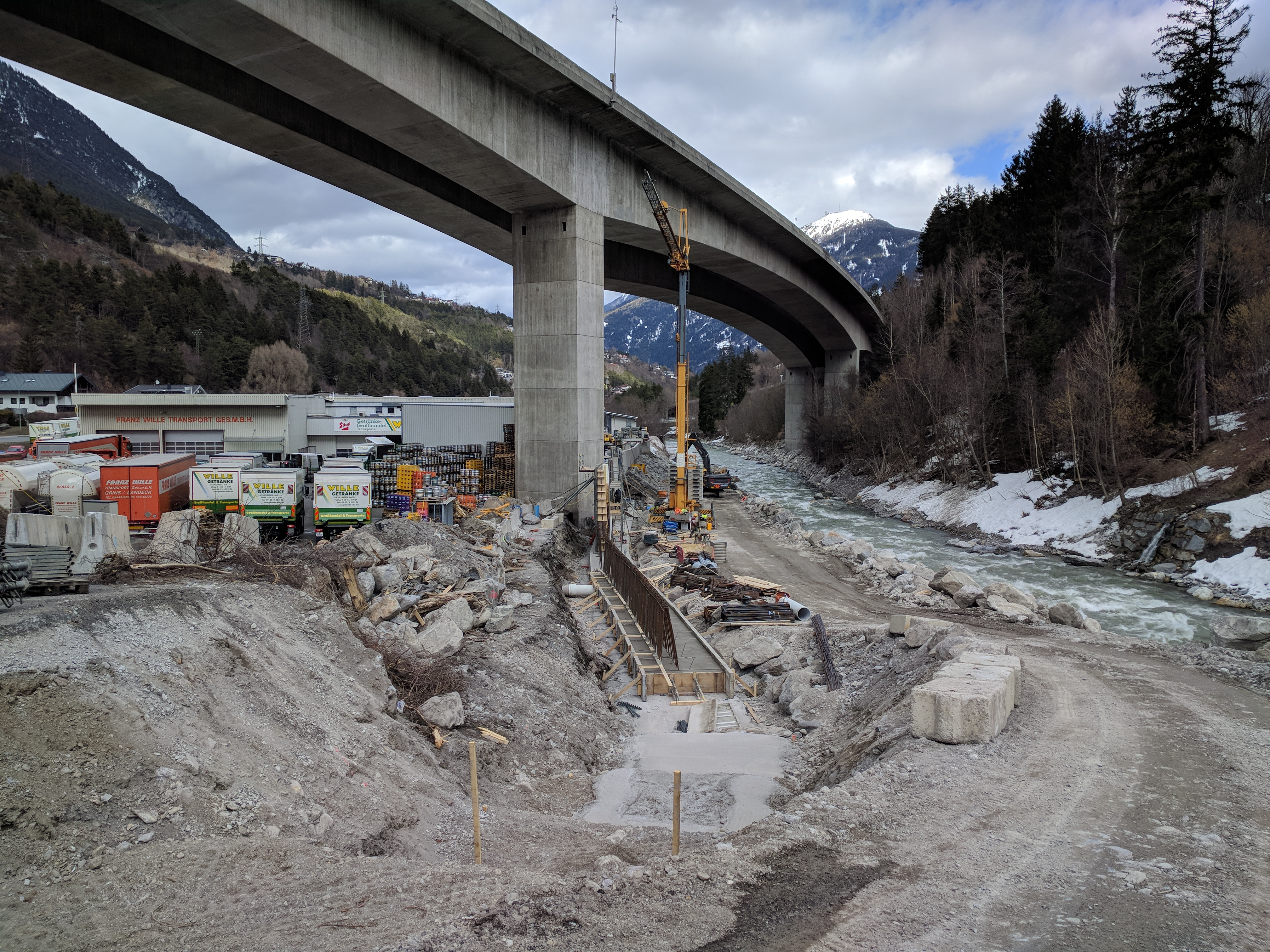 Hochwasserschutz Sanna - Gewerbegebiet Grins-Graf