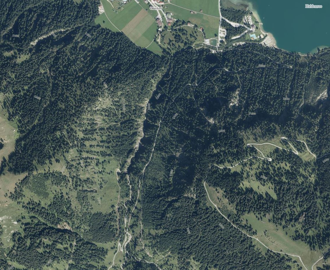 Orthofoto Strindenbach Canyoning (c)Tiris