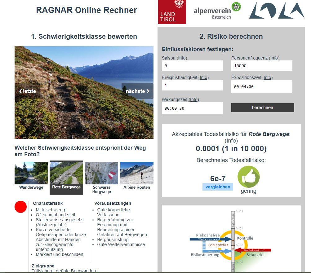 RAGNAR Risikoanalyse Onlinerechner