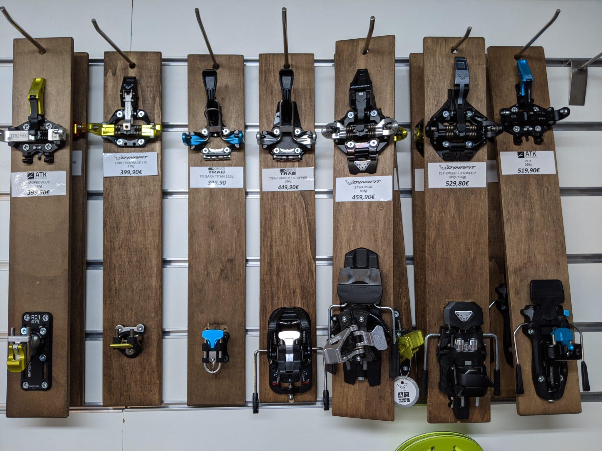 Skibindungen mit und ohne Skistopper