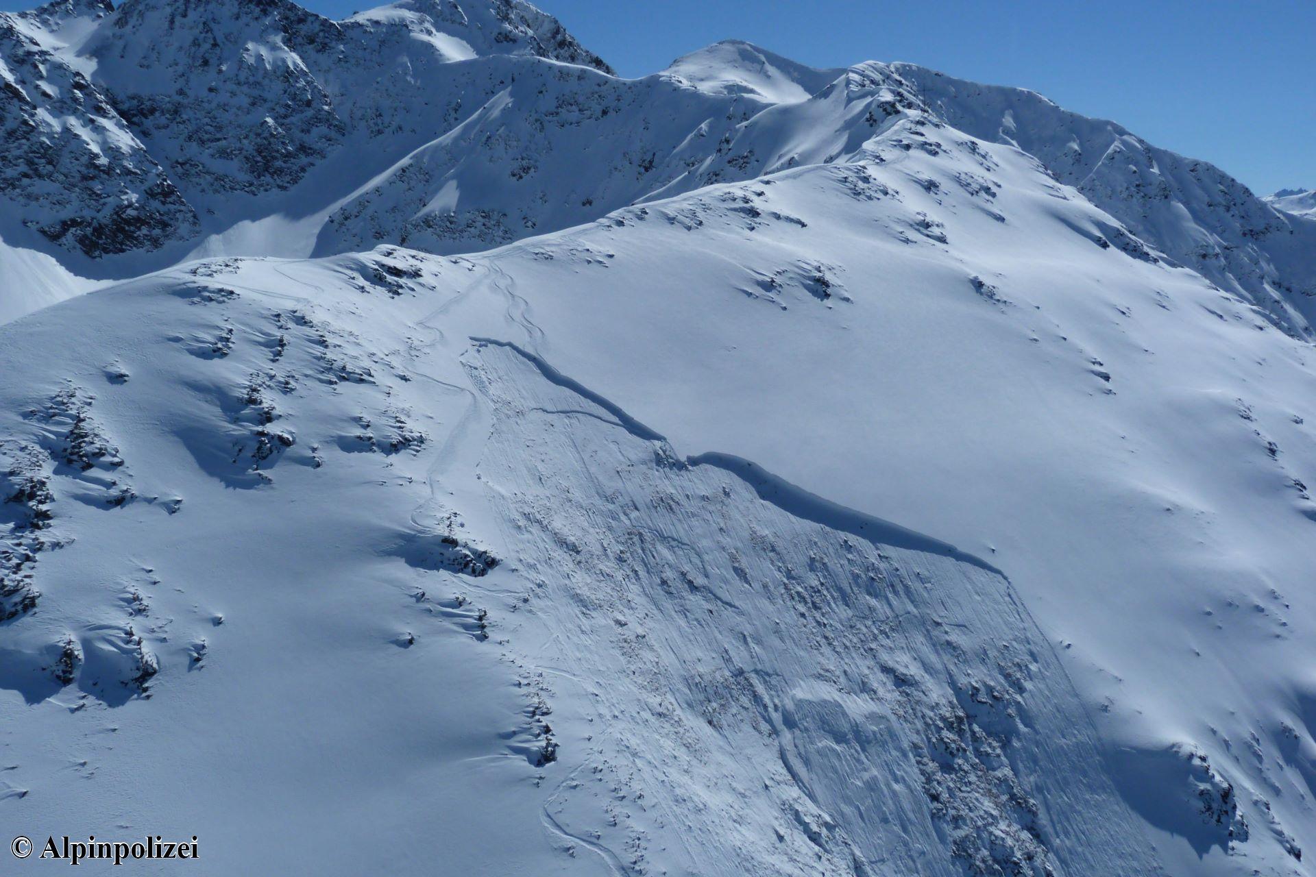 Anriss und Schneebrett Giggler Spitze 24. März 20201 - Foto Alpinpolizei