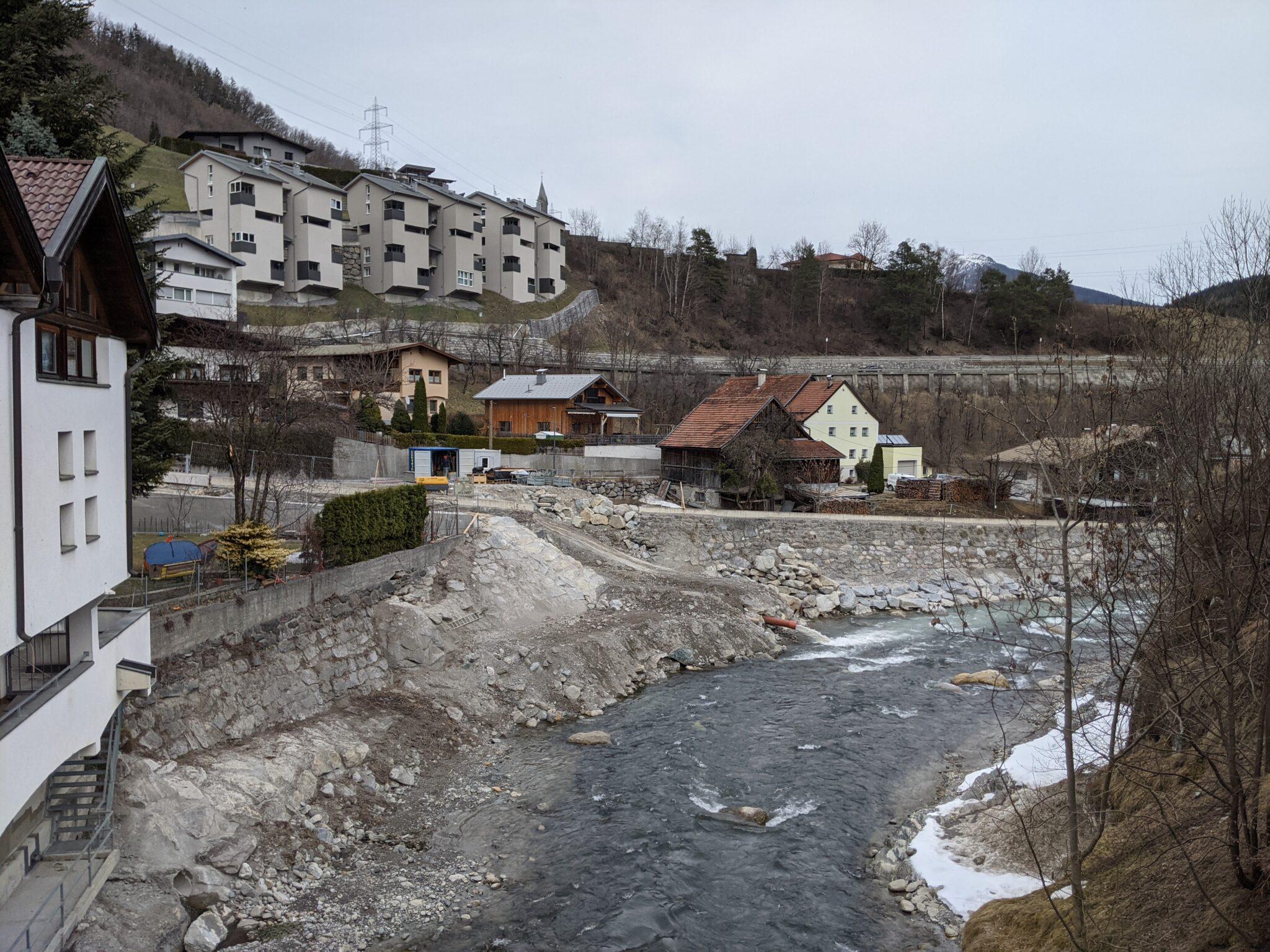 Lattenbach Mündung Pians 3.3.2021