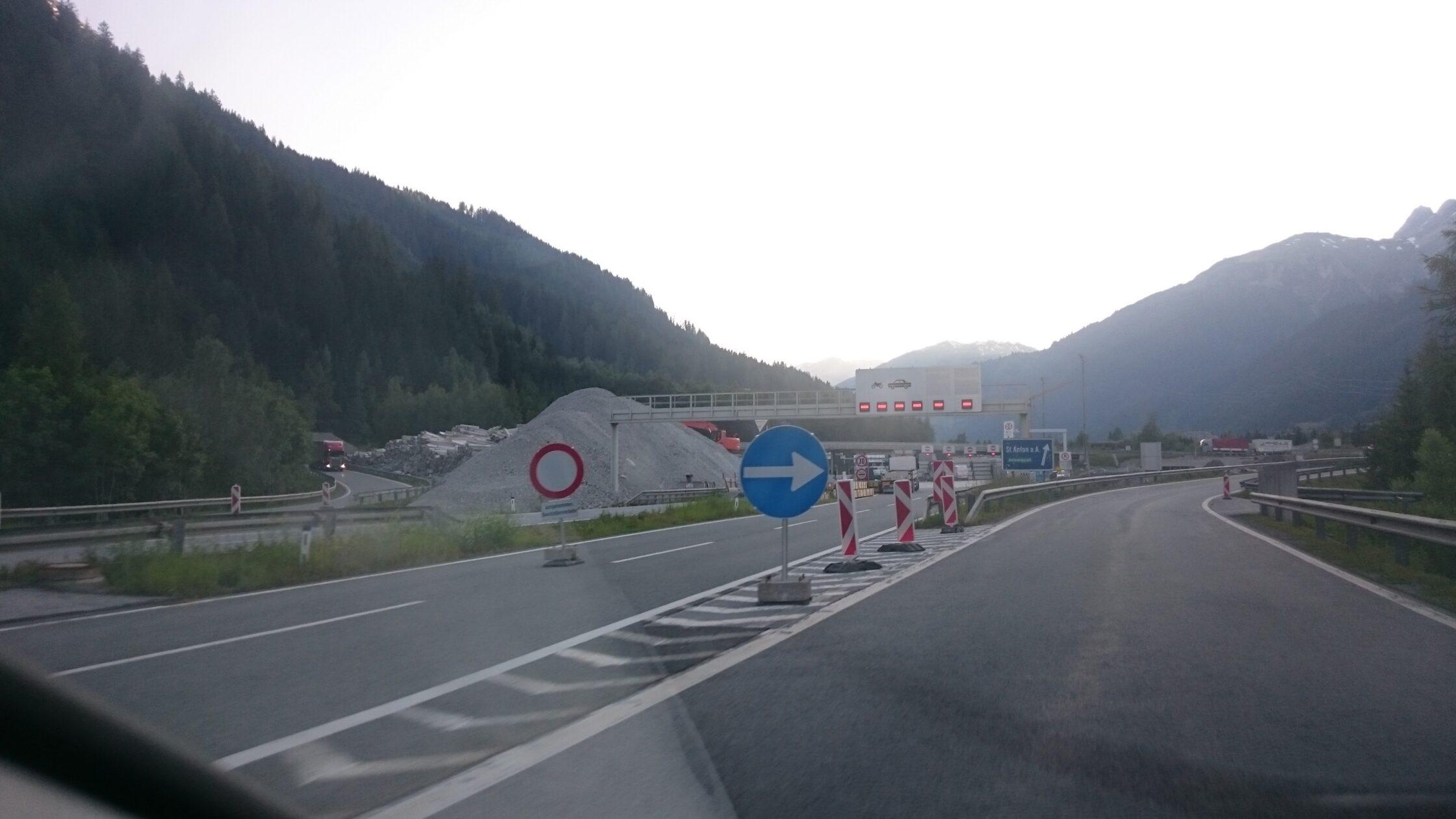 Sperre Arlbergtunnel 2022